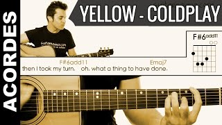 getlinkyoutube.com-Yellow de ColdPlay  Acordes Guitarra Guitar Cover chords como tocar tutorial