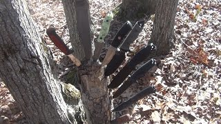 Beautiful Day = Knife Testing...Fixed Blades Galore!