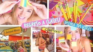 getlinkyoutube.com-REGRESO A CLASES!   DIY! DECORA TUS CUADERNOS Y UTILES + Compras! - BACK TO SCHOOL!   Katie Angel