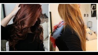 getlinkyoutube.com-From Red to Light Brown/Blonde WITHOUT bleach! Color Oops step-by-step|