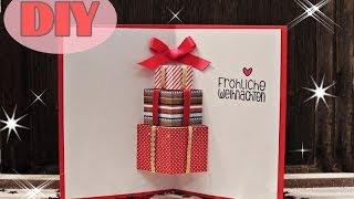 getlinkyoutube.com-Weihnachtskarten selber basteln #7 - Weihnachtsgeschenke - Christmas Card DIY