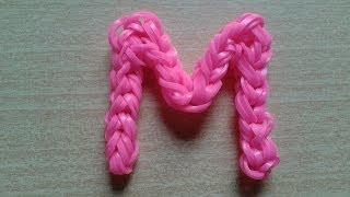 getlinkyoutube.com-♥ Tutorial: letras M y W hechas con gomitas (sin telar) ♥