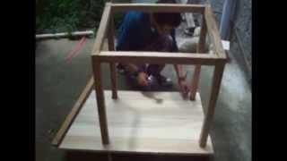 getlinkyoutube.com-Construccion en madera de la casa de la mascota
