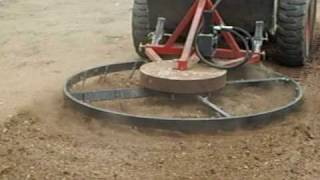 getlinkyoutube.com-Douglas Rotary Harrow In Action!