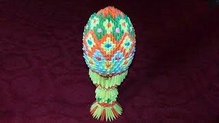 getlinkyoutube.com-3D origami Easter egg master class (Faberge Egg of paper) tutorial