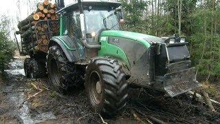 getlinkyoutube.com-Valtra T131h forestry tractor