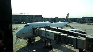 getlinkyoutube.com-Lufthansa Business class, FRA-SEA Boeing 747-400 August 2016