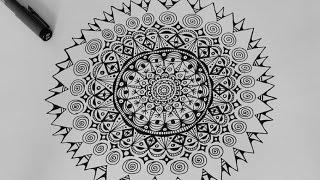 getlinkyoutube.com-A Black & White Mandala :: Ulrike Hirsch