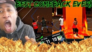getlinkyoutube.com-BEST COMEBACK IN PARK HISTORY! TRASH TALKERS BLEW A 19-11 LEAD! 4 GREEN 3s INA ROW - NBA 2K17 MyPark