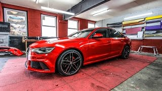 getlinkyoutube.com-Audi A6/RS6 Saloon Candy Red Wrap