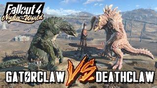 getlinkyoutube.com-Giant Alpha Deathclaws VS Giant GatorClaw | Fallout 4 Nuka World Battle Arena | Battle Request