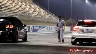 getlinkyoutube.com-2012 Golf R mk6 vs 2014 Mercedes A45 AMG