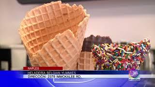 Gaby Romero se fue a comer un helado delicioso y sin remordimientos