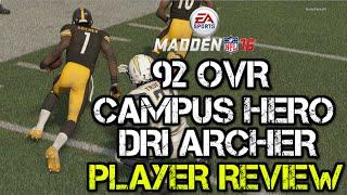 getlinkyoutube.com-92 OVR Campus Hero Dri Archer | Player Review | Madden 16 Ultimate Team Gameplay | MUT 16