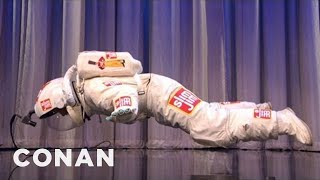 CONAN Exclusive: World's Shortest Freefall!