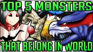 Top 5 Monsters that NEED to be in Monster Hunter World! (Lore/Theory/Discussion - One For Each Map)