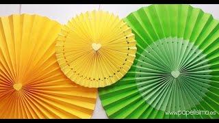 getlinkyoutube.com-Decoración para cumpleaños: Cómo hacer rosetones de papel para decorar fiestas