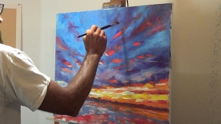 getlinkyoutube.com-Oil Painting with artist Michael Pintar. Sunset over water