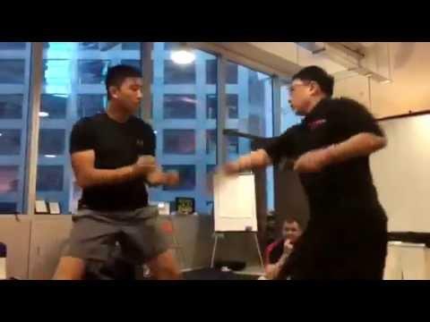 linus versus chye knife fighting