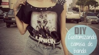 getlinkyoutube.com-DIY: Customizando camisa de banda