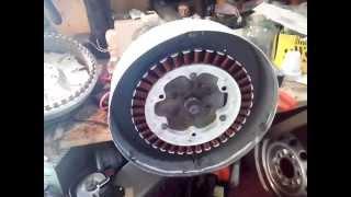 getlinkyoutube.com-генератор для ветряка из мотора стиральной машины LG