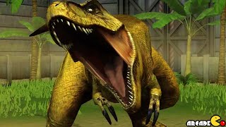getlinkyoutube.com-Legendary Tyrannosaurus REX Vs Utahraptor Dinosuars  - Jurassic World The Game