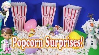 getlinkyoutube.com-SURPRISE EGG Popcorn Surprise Egg Elsa Frozen Disney Toys Video