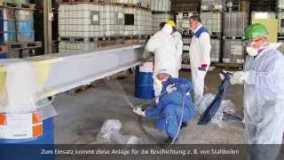 getlinkyoutube.com-Commissioning of the WIWA DUOMIX 333 PFP for applying epoxy intumescent fire protection materials