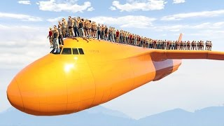 getlinkyoutube.com-1000 PEOPLE STANDING ON THE PLANE! (GTA 5 Mods)