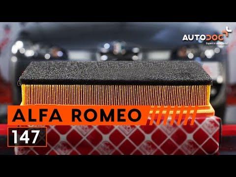 Kako zamenjati zracni filter motorja na ALFA ROMEO 147