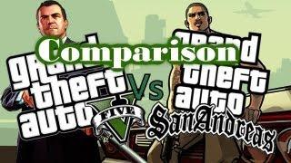 getlinkyoutube.com-GTA 5 vs GTA San Andreas: Comparison