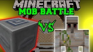 getlinkyoutube.com-Iron Golem Vs. Slider Mimic Boss - Minecraft Mob Battles - Arena Battle - Aether 2 Mod