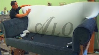 getlinkyoutube.com-DIY: HOW TO REUPHOLSTER A SOFA. - ALO Upholstery