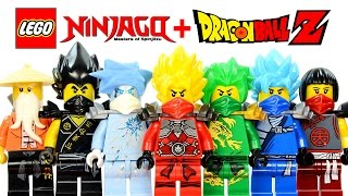 LEGO Ninjago Dragon Ball Z Inspired MOC Project w/ Super Saiyan Kai Lloyd Cole Jay & Zane
