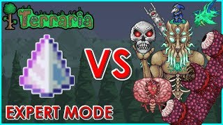 Terraria - Last Prism vs All Bosses and Events + Dungeon Guardian (Expert Mode) | Biron