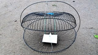 getlinkyoutube.com-How to make a mouse​ trap or bird trap by old fan