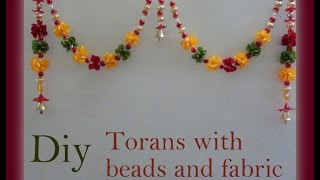 getlinkyoutube.com-Diy Torans with beads and fabric