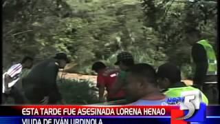 """Nota Informativa """"Asesinato de Lorena Henao Montoya, viuda de Iván Urdinola""""."""