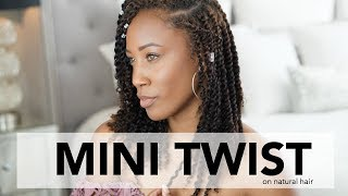 How To Grow Long Hair with Mini Twist Protective Style