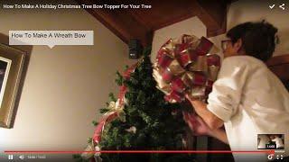 getlinkyoutube.com-How To Make A Holiday Christmas Tree Bow Topper