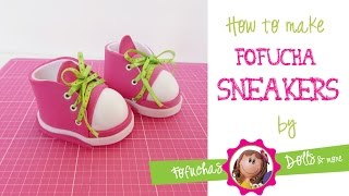 getlinkyoutube.com-How to make sneakers for your fofucha doll