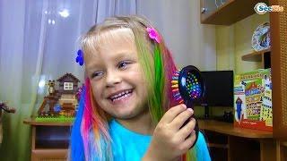 getlinkyoutube.com-САЛОН КРАСОТЫ для Ярославы Красим Волосы Игры для девочек Развлечения для детей