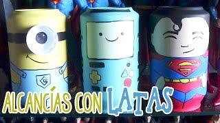 getlinkyoutube.com-Alcancía de los minions hecha con latas - Candy Bu
