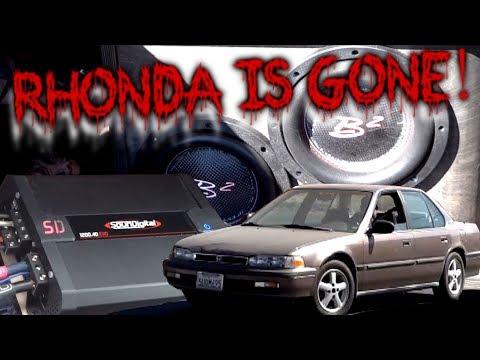 Rhonda is GONE. A proper BASSHEAD sendoff 1990 Honda Accord One Last Bump