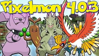 getlinkyoutube.com-Pixelmon 4.0.3 Update Review! | HO-OH & TYRANITAR! | New Trainer Models & Items!