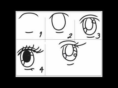 Dibujando Manga video tutorial 5 (ojos y cejas)