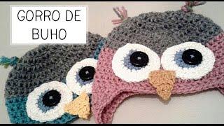 getlinkyoutube.com-Gorro de Buho a Crochet - Tallas de 0 a 2 años - Parte 1 de 2