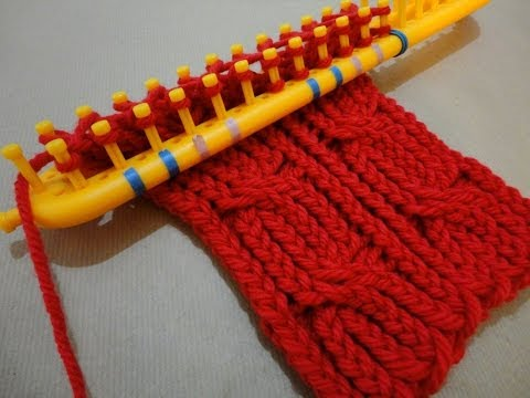 Cómo tejer un cuello trenzado en telar rectangular