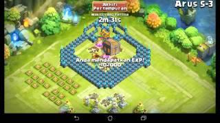 getlinkyoutube.com-#66 castle clash : Easy HBM S  4heroes no Tower
