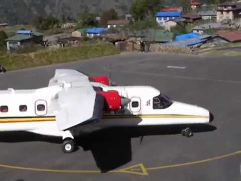 Landing And Taking Off At Lukla, Nepal Airport